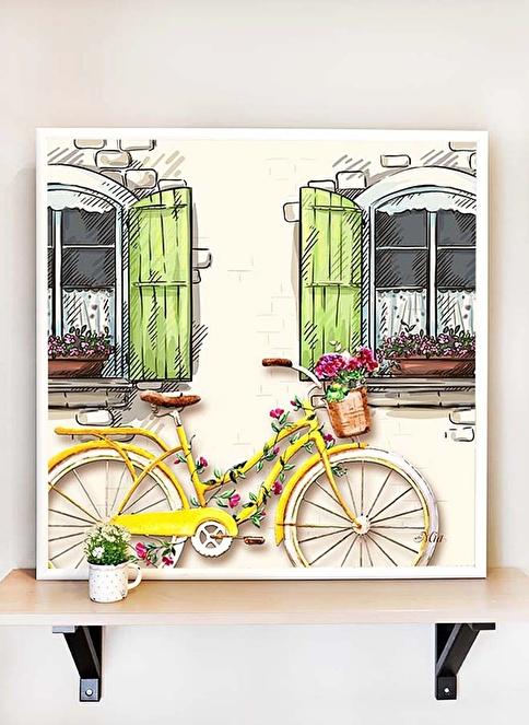 The Mia Tablo Bisiklet C - 65*65 Cm  Renkli